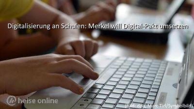 Digitalisierung an Schulen: Merkel will Digital-Pakt umsetzen